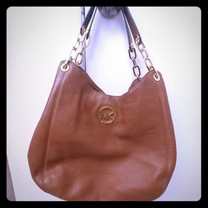 Michael Kors Brown Bag with Gold Chain